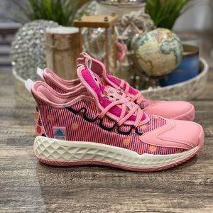 Adidas Pro Boost Low Pink Basketball Shoes